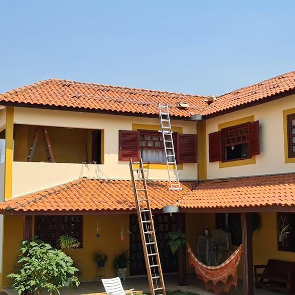 casa com energia solar fotovoltaica