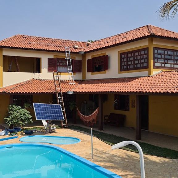 residência com energia limpa